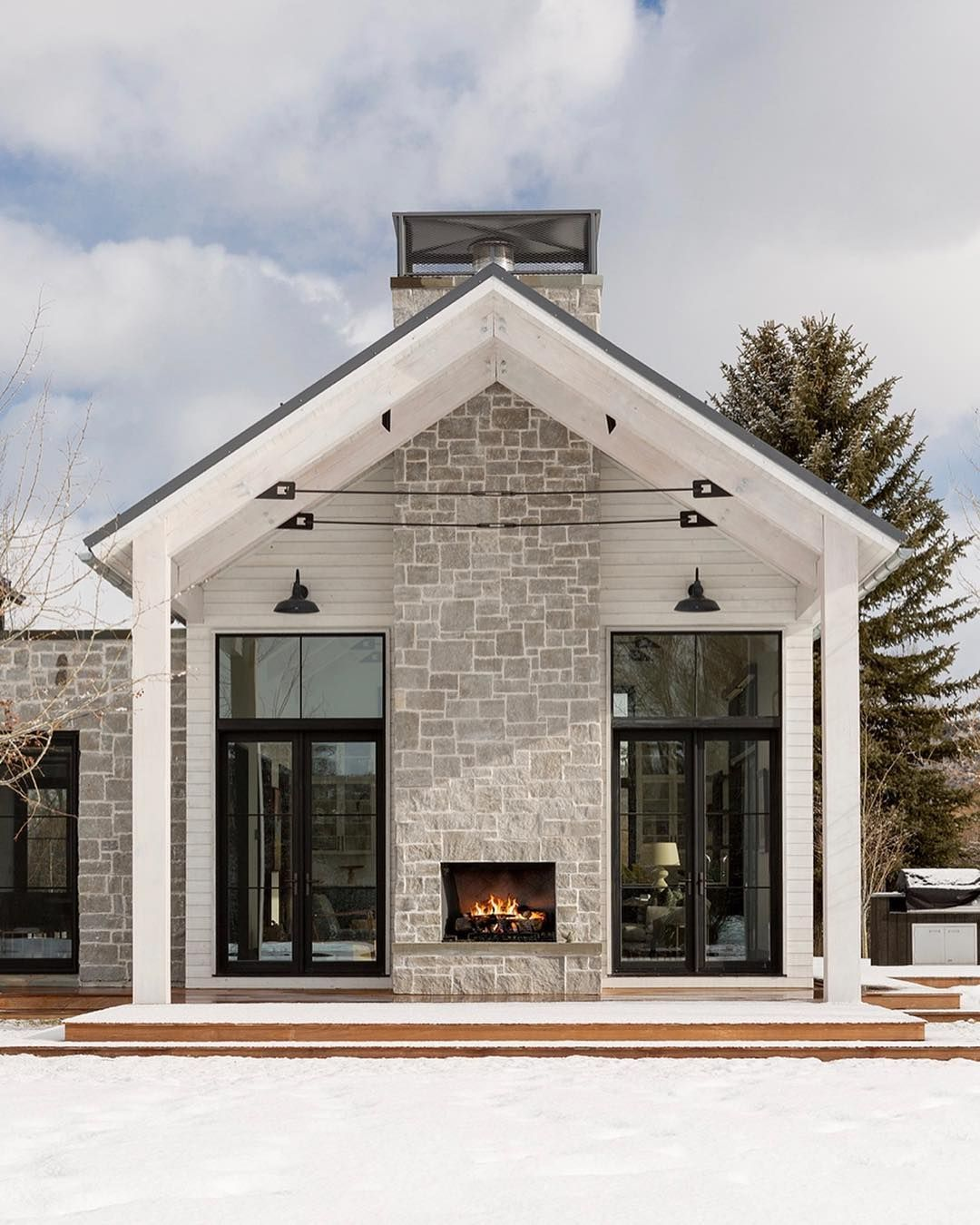 Studio Mcgee On Instagram Today S Weather In Utah Was And More Reminded Me Of The Snowy Modern Farmhouse Exterior House Exterior Farmhouse Exterior