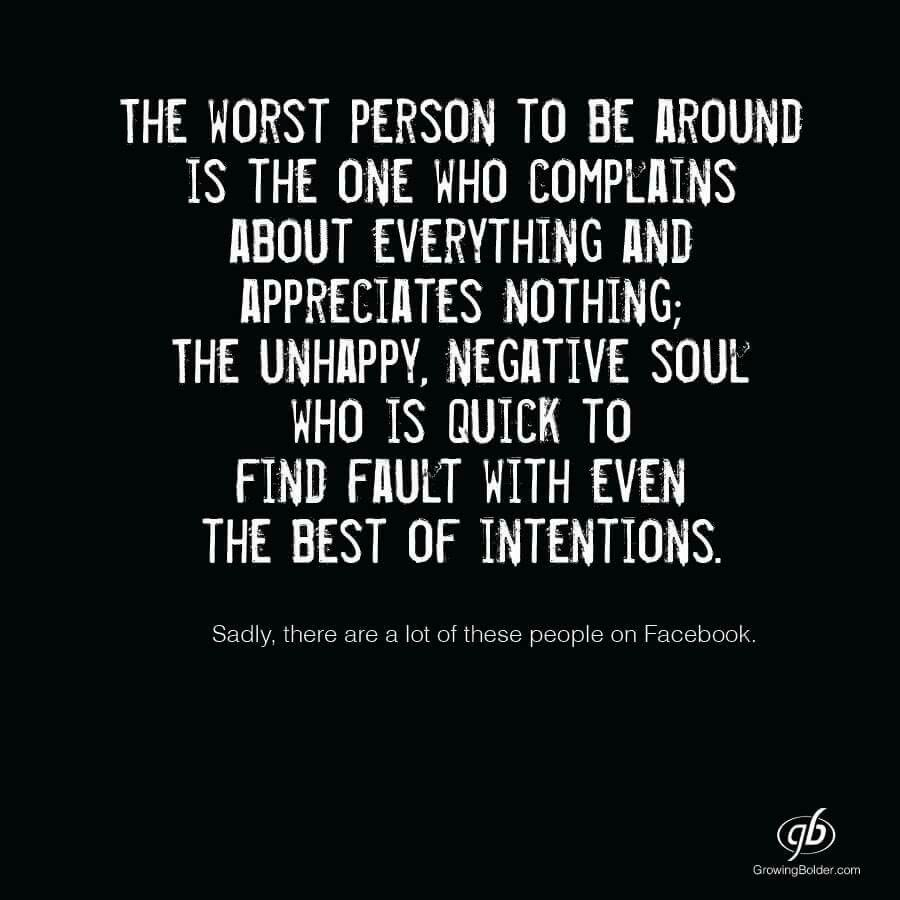Pin by Carol Winnik on quote | Negativity quotes, Miserable ...