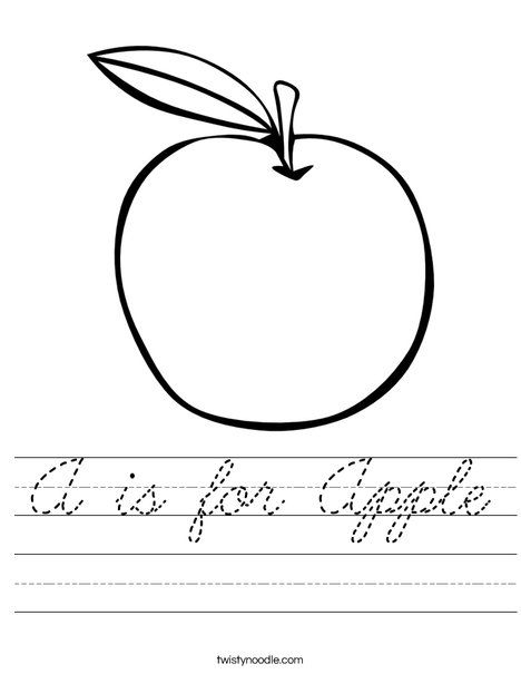 A Is For Apple Worksheet Montessori Pinterest Worksheets