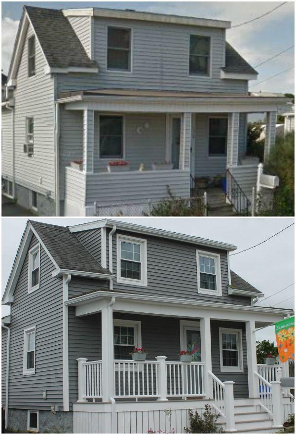 Harvey Windows Vinyl Siding Azek Porch New Bedford Ma Contractor Cape Cod Ma Ri Vinyl Siding Grey Vinyl Siding Siding