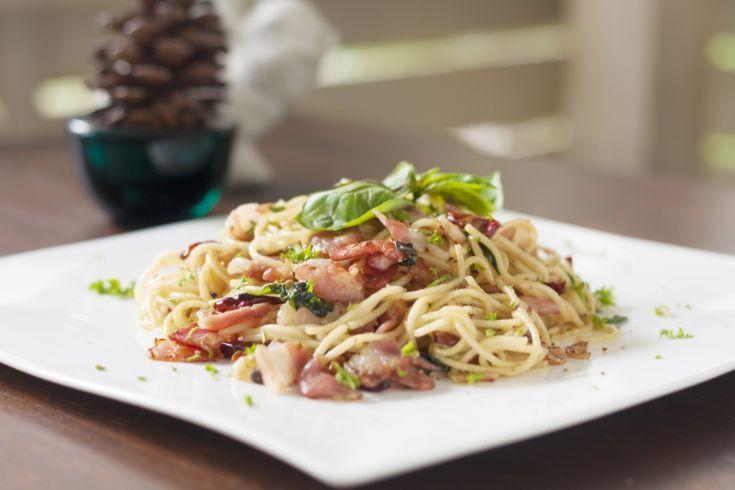 Špagety carbonara s čili
