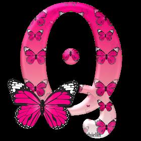 Alphabets By Monica Michielin Alfabeto Borboleta Rosa Pink Butterfly Alphabet Pink Butterfly Butterfly Wallpaper Emoji Art