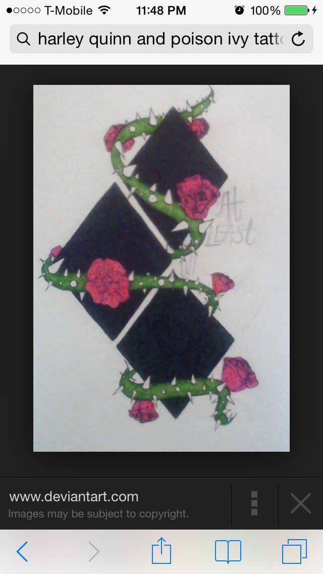 Harley Ivy Symbols Batman Harley Quinn Tattoo Poison Ivy