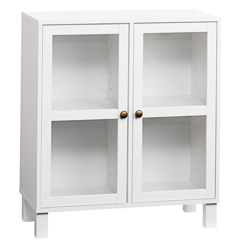 features two glass cabinet doors to provide ample storage space for display items the vitrine has a clean chic appeal to provide a cutting edge look to