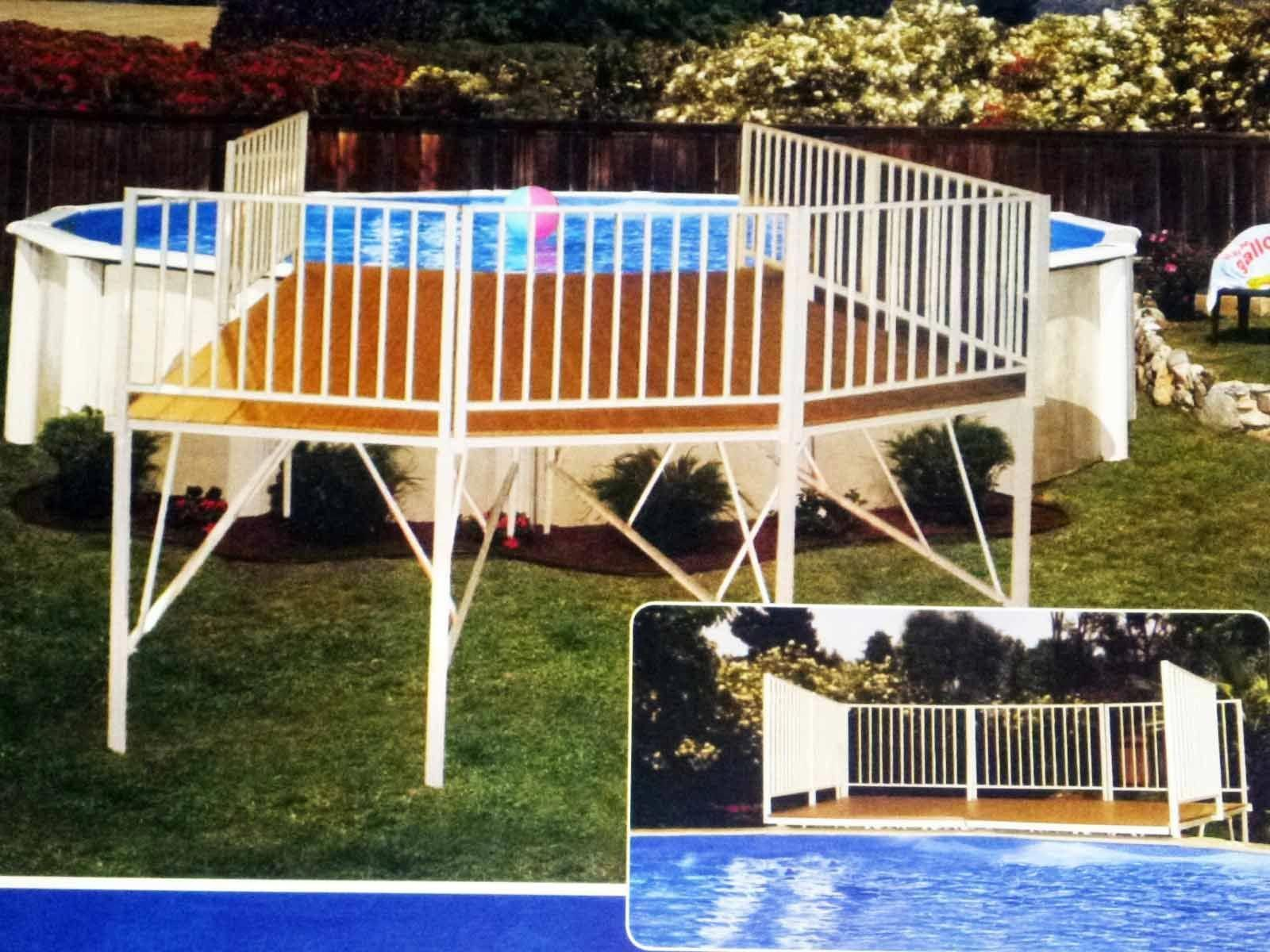 Want To Know What An Above Ground Pool Deck Cost Here We List Three Options That Are Easy On The Wallet 3 X 5 6 And 9 Easydeckstobuild