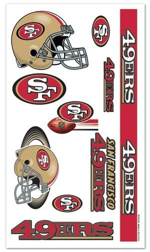 fb1e7a842 San Francisco 49ers Tattoos Temporary