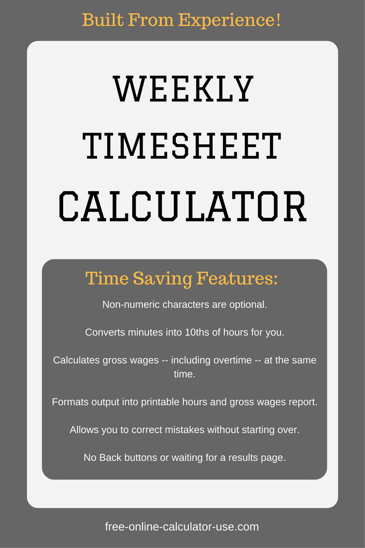 Hourly Timesheet Calculator. Restaurant Bill Format In Excel Free Ms ...