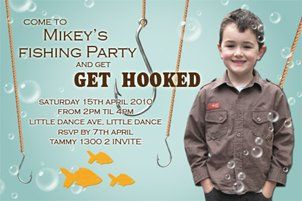 Image detail for Fishing Themed Party Invitations Fishermans