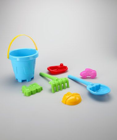 Take a look at this Blue Sand Barrel Set by Brooklyn Lollipop on #zulily today! $7.99, regular 12.00