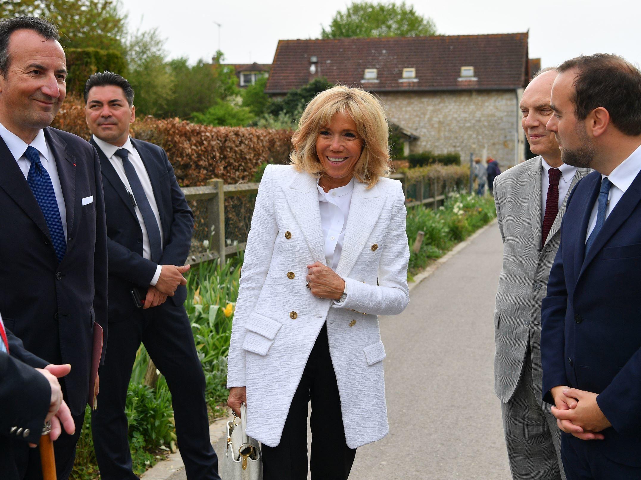 PHOTOS. Brigitte Macron à Giverny la Première Dame