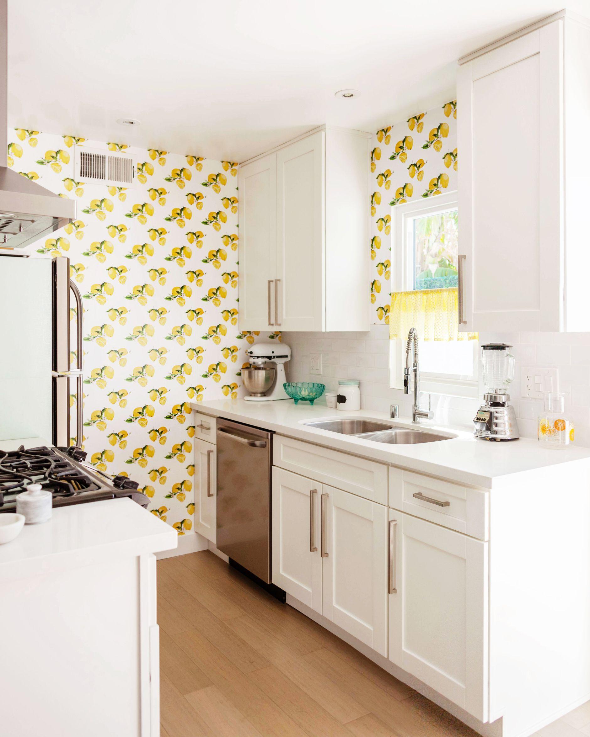 Melodrama   Kitchen wallpaper, Modern kitchen wallpaper, Yellow ...