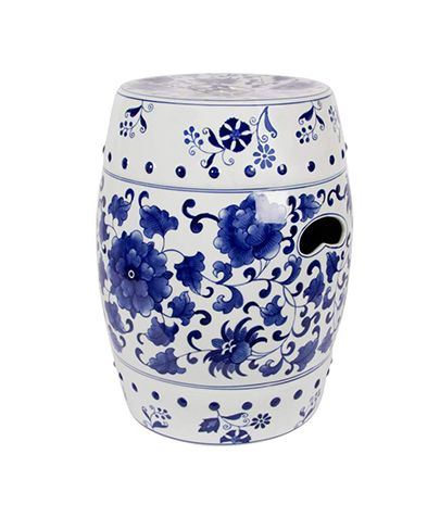 Cobistyle Blue And White Stool Perfect For Home Or
