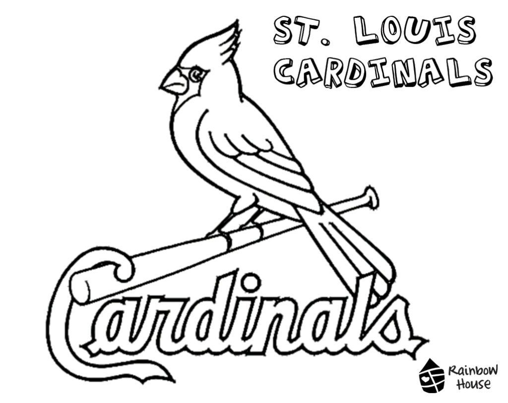 St Louis Cardinals Coloring Pages Free Baseball Coloring Pages St Louis Cardinals Cardinals Baseball