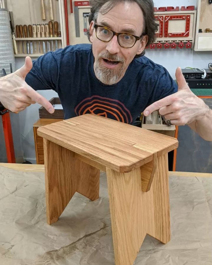 """Radek's Woodworking Workshop on Instagram: """"All parts of the stool are shaped and ready for assembly. Enjoy and let me know if you need plans.  stool  smallfurniture  freeplans…"""""""