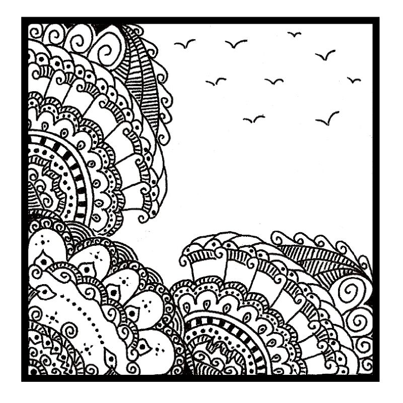 I'm officially OBSESSED with zentangles (I had no idea this kind of doodling had a name, but I LOVE making them!)