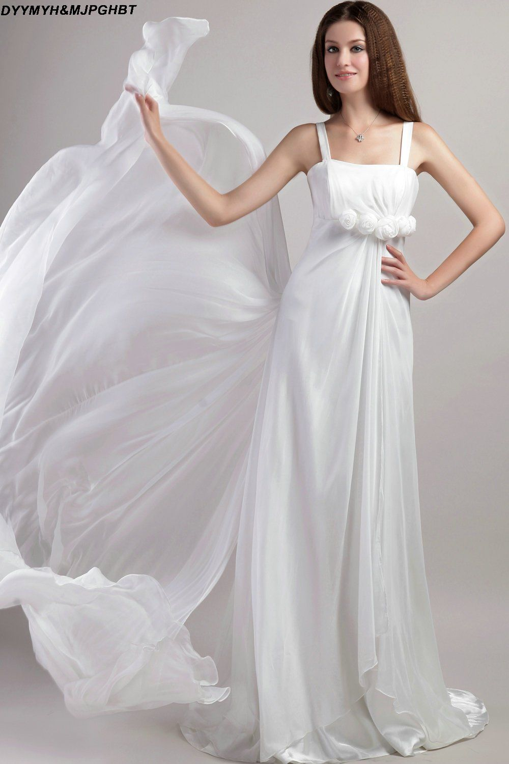 Simple white wedding dresses  Glamours Papilio Summer Beach Wedding Dresses Spaghetti Strap Simple
