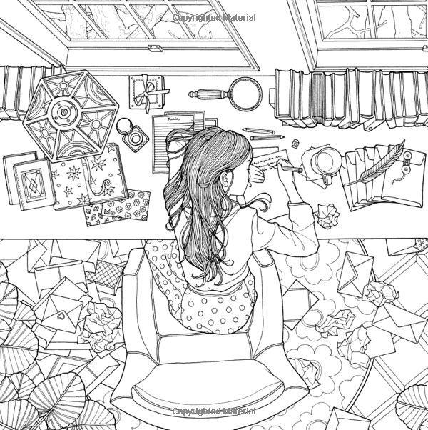 Vysledek Obrazku Pro Daria Song Coloring Book Dibujos Garabateados Libros Para Colorear Dibujos Para Pintar Paisajes
