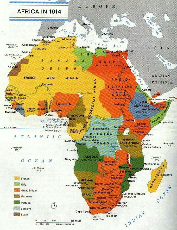 African division that literally done on paper by imperial powers