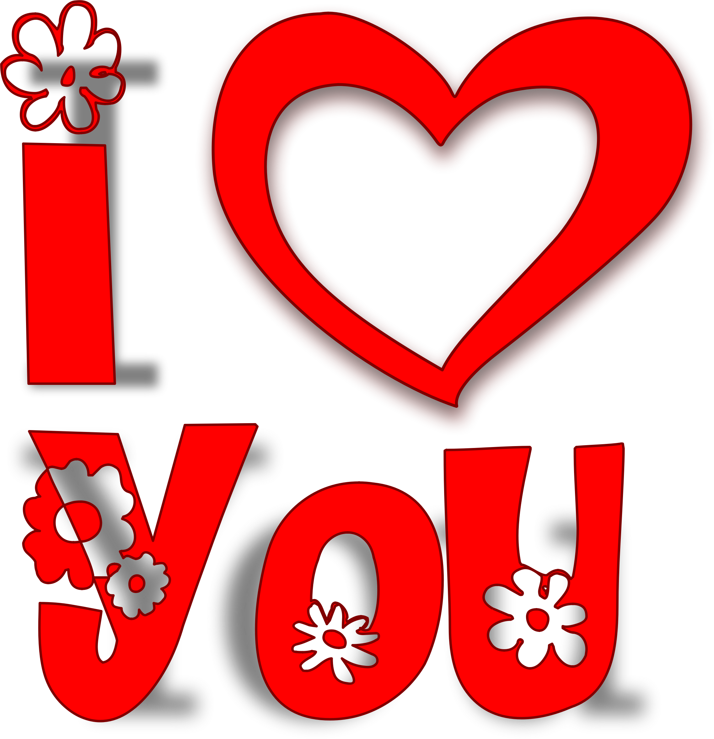 I Heart You Clip Art