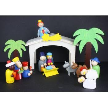 Gisela Graham Wooden Nativity Set