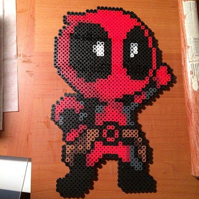Deadpool By Iamarkain On Deviantart Perler Art Hama Beads