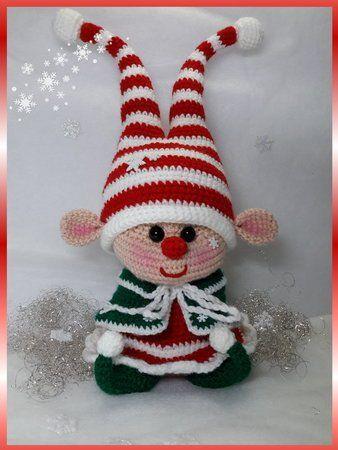Häkelanleitung Weihnachtswichtelinchen   Wzory   Pinterest ...