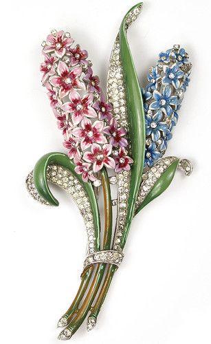 Trifari 'Alfred Philippe' Giant Double Hyacinth Pin