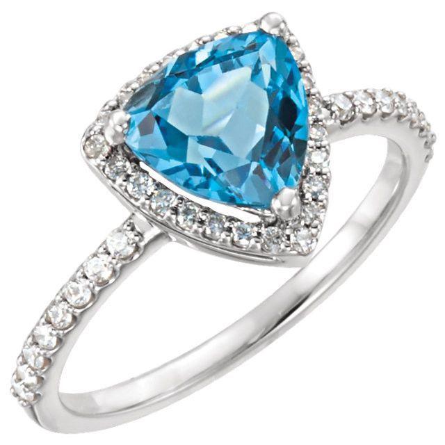 Angara Split Shank Trillion Swiss Blue Topaz Ring 1f70Z8ly