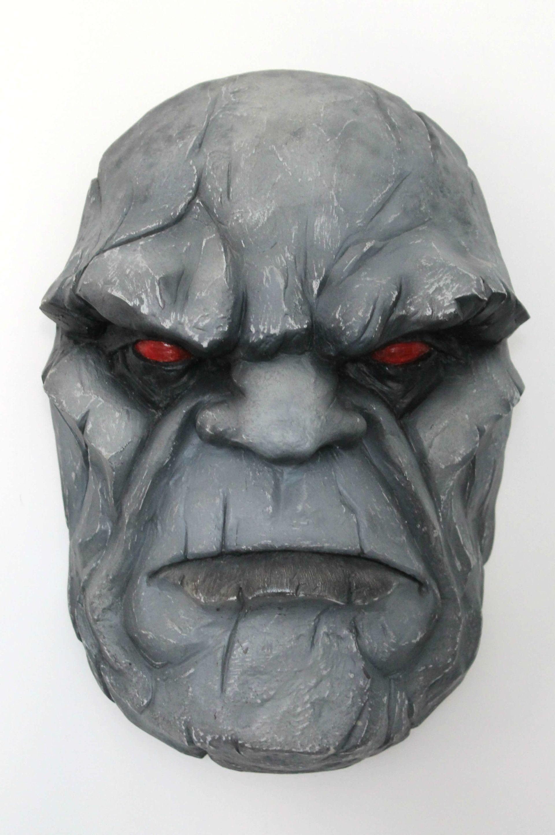 3 Hand Carved Wooden Darkseid