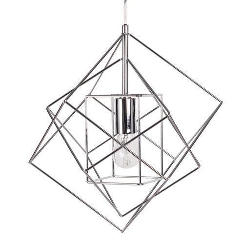 Suspension filaire en métal chromé