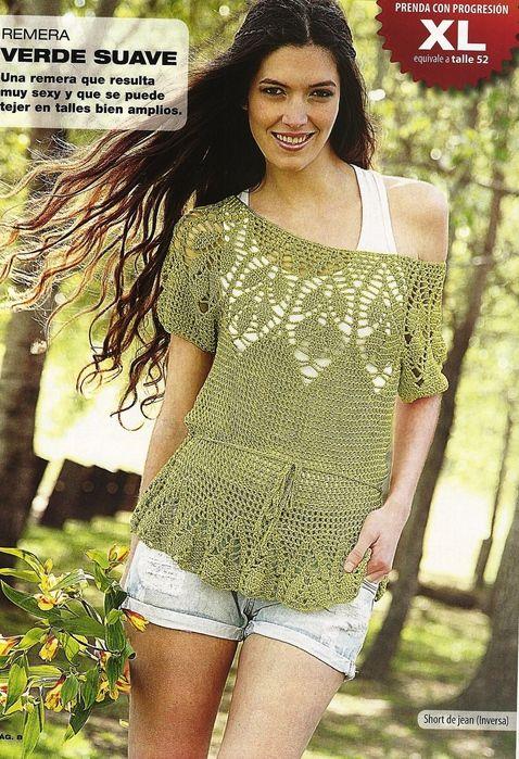 Crochet Style ~: Blusas a crochet | Vestidos y blusas a crochet ...