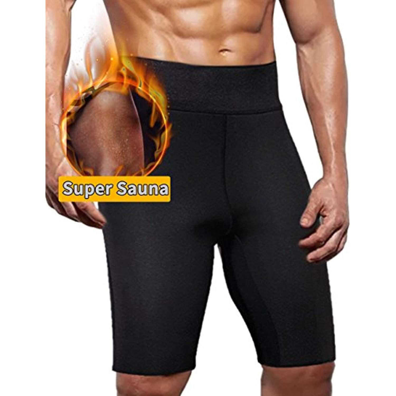 03201dc4dbc Glamours Sauna Shorts Weight Loss Pants Hot Neoprene Thigh Sweat Shorts  Body Shaper Pants for Men     Details can be found by clicking on the image.