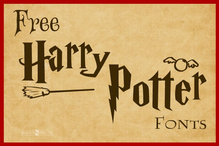 Free Harry Potter Fonts Harry Potter Font Harry Potter