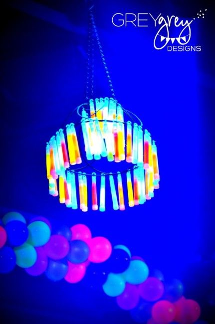 Tent Chandelier; incentive for the kids to stay in the tent. & Think Outside The Toy Box ... Glow Sticks Ideas For Kids | Glow ...
