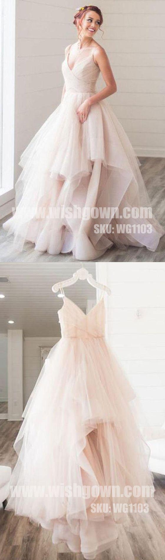 Elegant popular simpletulle evening chic cheap long prom dresses
