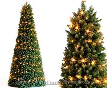 Kunststoff weihnachtsbaum mit led