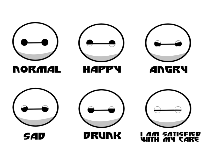 The Many Faces Of Baymax by Zoruannartist68.deviantart.com ...