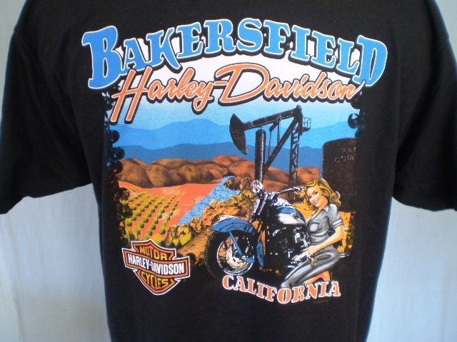 Harley Davidson Black Xl T Shirt Bakersfield Ca Cotton Harley Davidson T Shirts Harley Davidson Dealers Harley Davidson