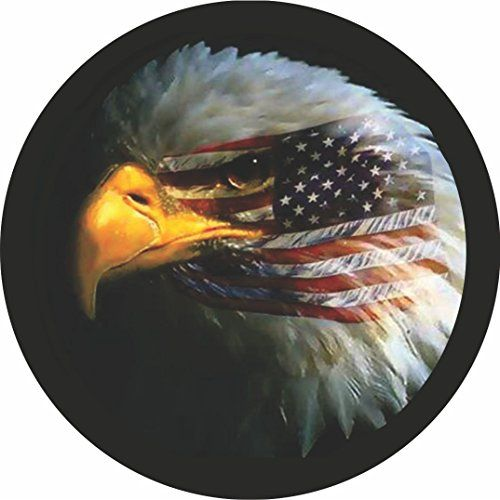 Customgrafix Jeep American Flag Eagle Tire Cover Tire Cover