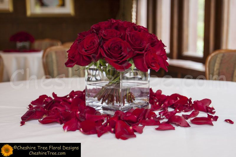 Red roses and candles centerpieces google search