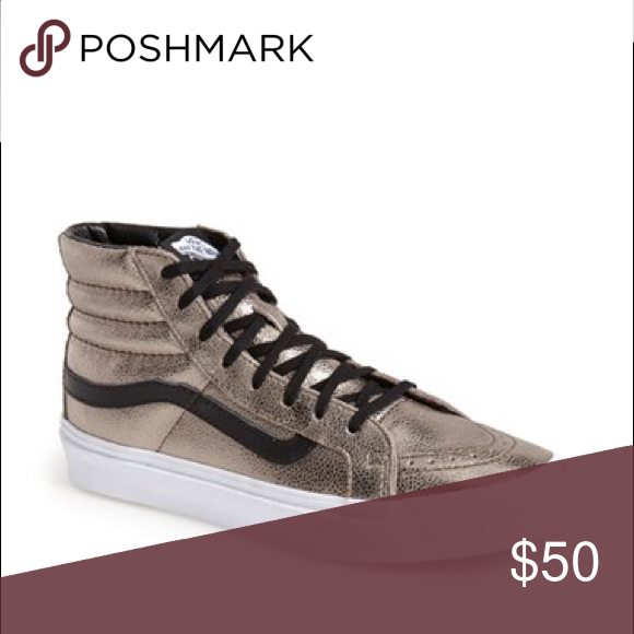 📣 Vans sk8 hi gold high top sneakers