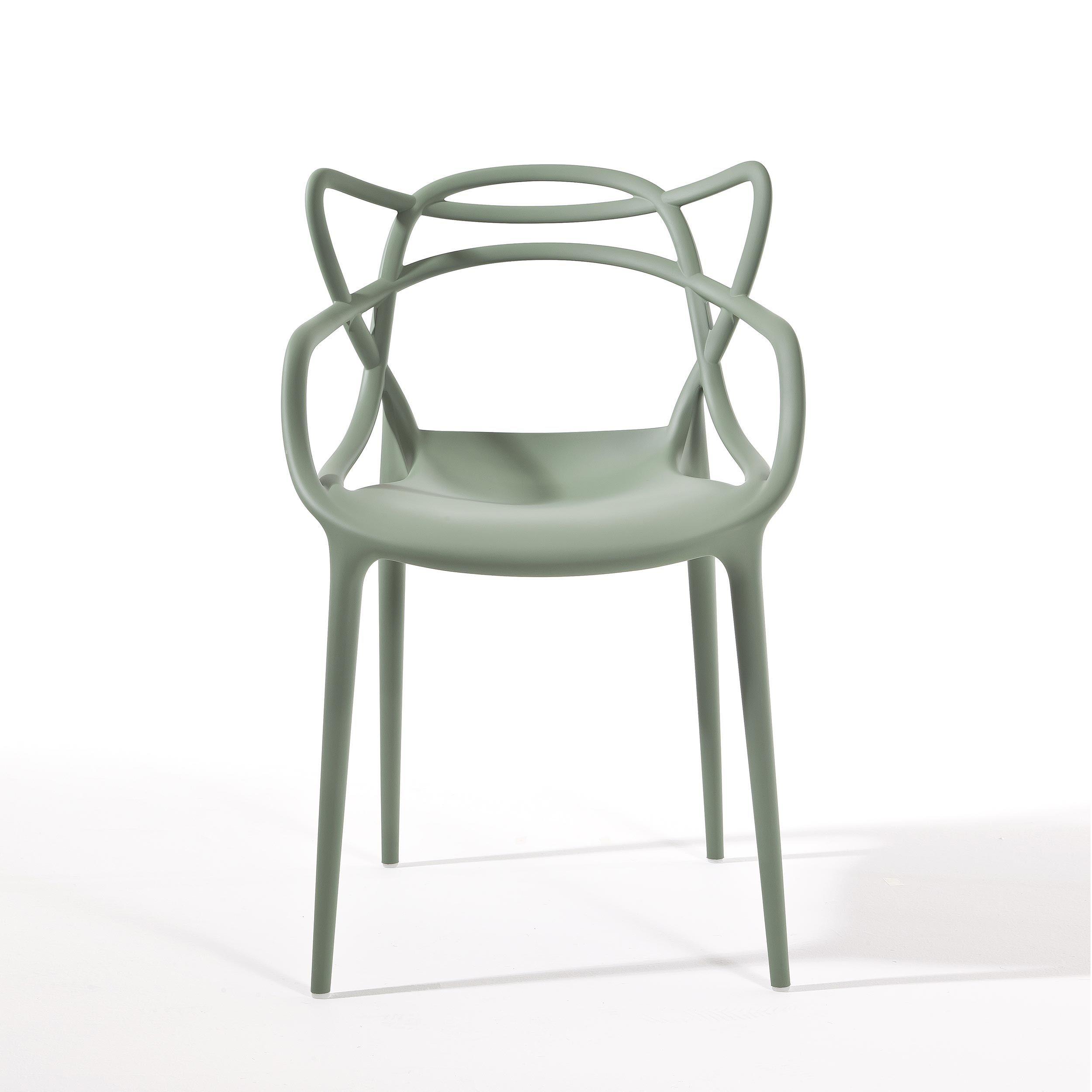 Polypropylene chair sage green mod. Masters, Kartell. // Silla de ...