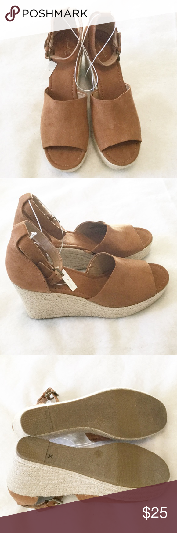 """3cdffa0d1c Universal Thread """"Emery"""" Espadrille Sandals NWT, tag almost completely cut  off. No"""