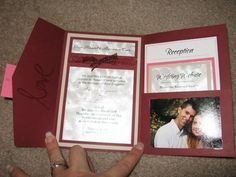 Really neat and inexpensive way to make wedding invitations. No need to pay someone to make invitations.