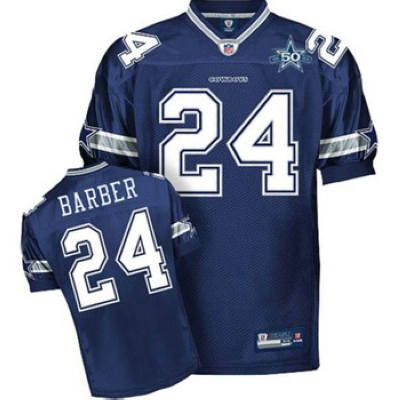 best sneakers 61ebd 80047 Marion Barber Jersey: Reebook 50TH Patch #24 Dallas Cowboys ...