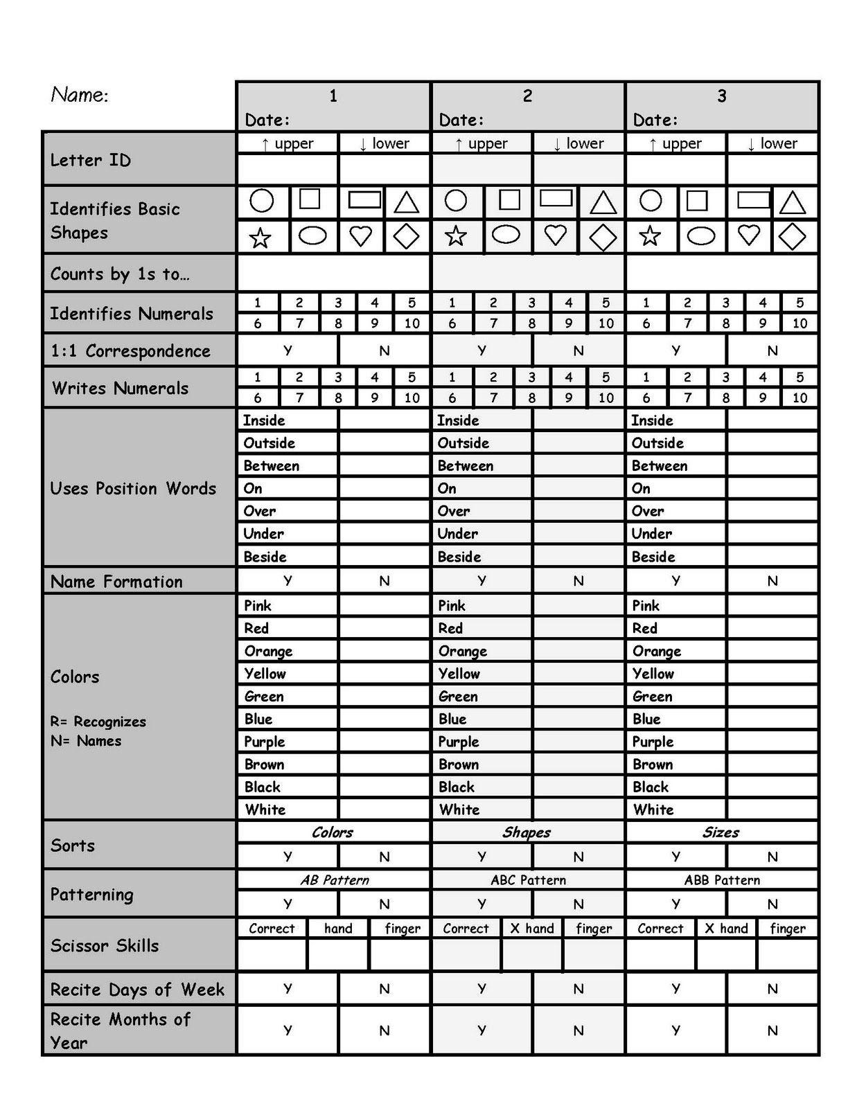 991e9c7b01f4a7ce941c6e4c23637e24 - Kindergarten Assessment Test Printable