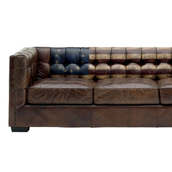 Canape Cuir Fixe 3 Places Vintage Armstrong Andrew Martin | Deco