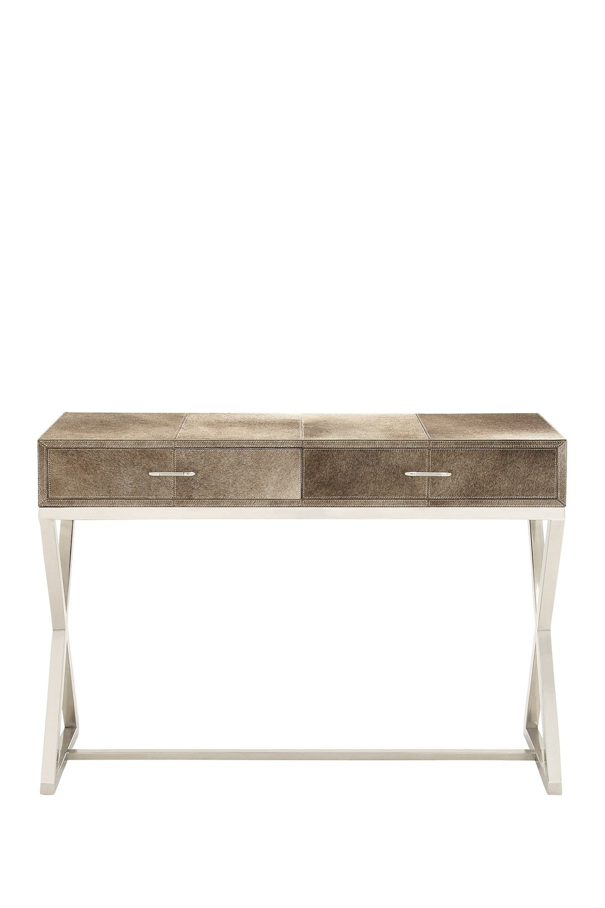 Nice Stainless Steel Genuine Leather Hide Console By UMA On @HauteLook