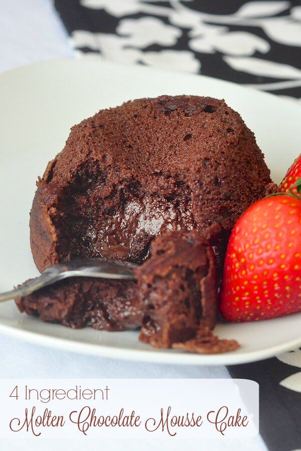 Easy Molten Mousse Chocolate Cake Recipe Chocolate Mousse Cake