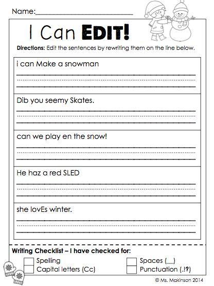January Printables First Grade Literacy And Math With Images